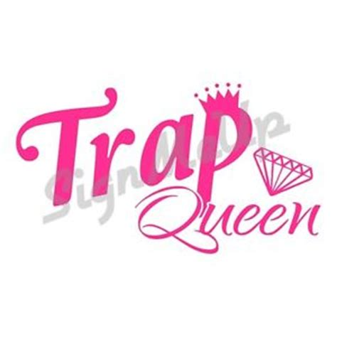 trap queen vinyl window sticker decal 20 colors for car