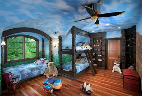 Childrens Bedroom Ceiling Fans by Eclectic Bedroom With Custom Bunk Bed Ceiling Fan