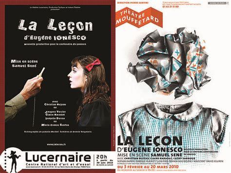 la lecon folio theatre la le 231 on 2010 th 233 226 tre mouffetard puis lucernaire samuel sen 233