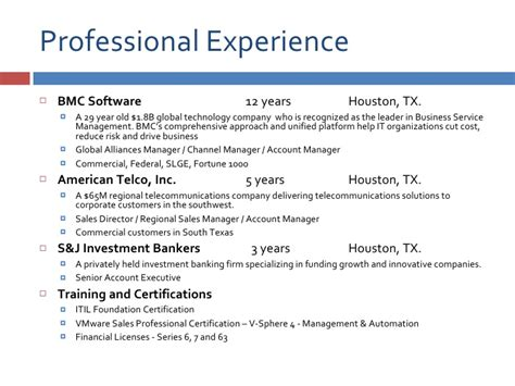Professional Resume Sle by Professional Profile Resume Sle 28 Images Profile In