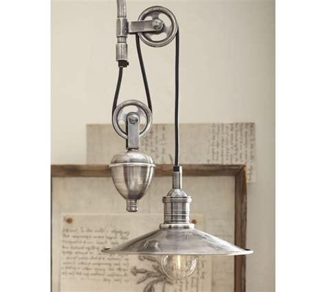 bathroom light pulley packard pulley single sconce pottery barn
