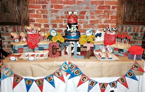 cowboy birthday decorations home ideas