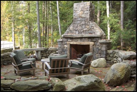 Outside Stone Fireplaces.Beyond The Grill. Outdoor Gas
