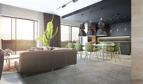 Decoration Salon Avec Cuisine Ouverte 2079 by Comment Incorporer Des Couleurs Sombres Dans Votre Int 233 Rieur