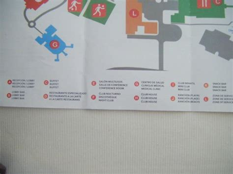 memories flamenco resort map map of resort picture of memories flamenco resort