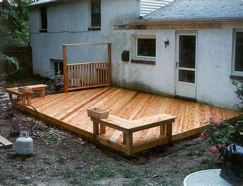 How To Level Ground For Patio by 25 Best Ideas About Ground Level Deck On