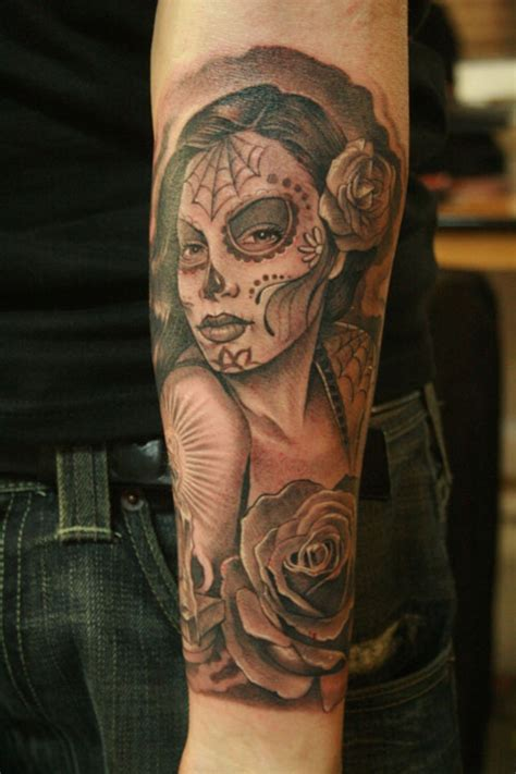 dead girl tattoo designs day of the dead tattoos designs ideas and meaning