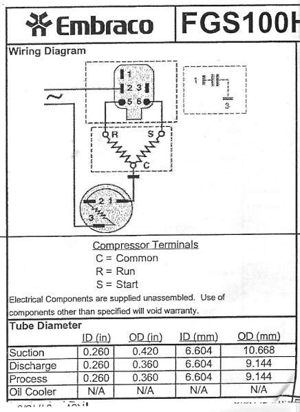 refrigerator wiring diagram compressor refrigeration diagram refrigeration compressor