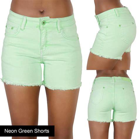 Hotpants Blue Premium new womens blue denim shorts high waisted ripped