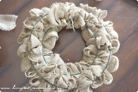 how to make a wreath with burlap diy burlap wreath living well spending less 174