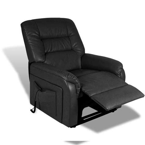 poltrona nera poltrona nera reclinabile con posizione aggiustabile con