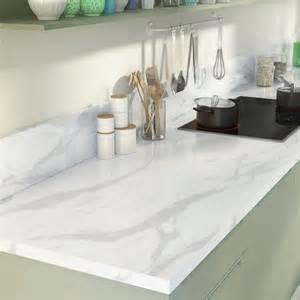 plan de travail droit stratifi 233 marbre blanc 315 x 65 cm