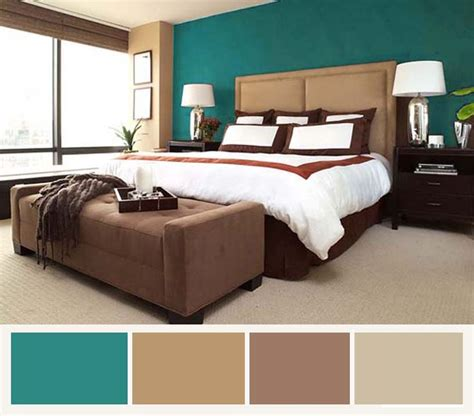 Bedroom Color Schemes For Furniture Best 25 Teal Brown Bedrooms Ideas On Living