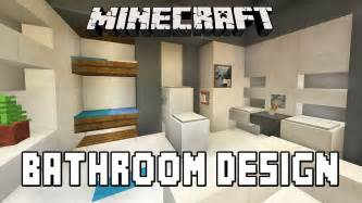 Minecraft Bathroom Designs minecraft tutorial how to build a modern house ep 7 bathroom