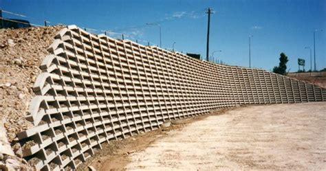 Concrete Crib Retaining Wall by Retaining Solutions Precast Concrete Crib Retaining Walls