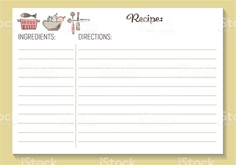 page from the kitchen of recipe card template recipe cards these free printable
