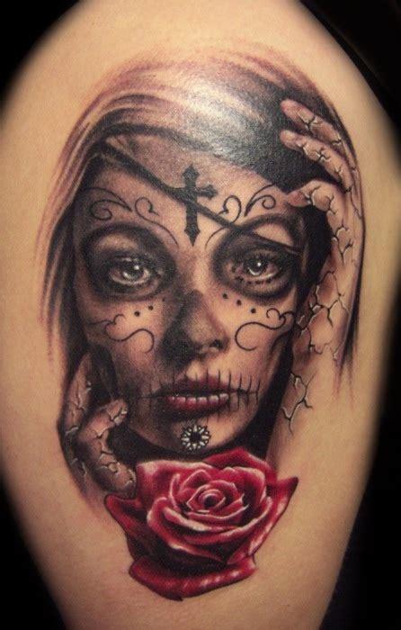 tattoo girl skull skull tattoo meanings