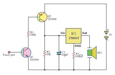 Alarm Motor Sensor Sentuh cara membuat skema rangkaian alarm sentuh corelita