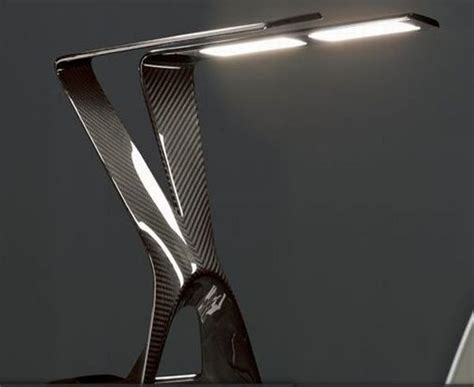 Unusual Lamps by Novaled Ag Announces Carbon Fiber Oled Table Lamp Elite