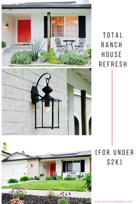 how to give a boring 1960s ranch house a stylish exterior makeover for 2k