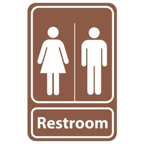 bathroom signs for the home rectangular plastic restroom sign pse 0057 the home depot