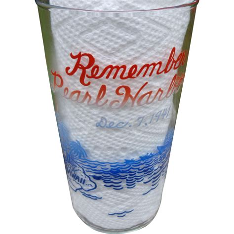 remember pearl harbor glass from amazingamericana on ruby lane
