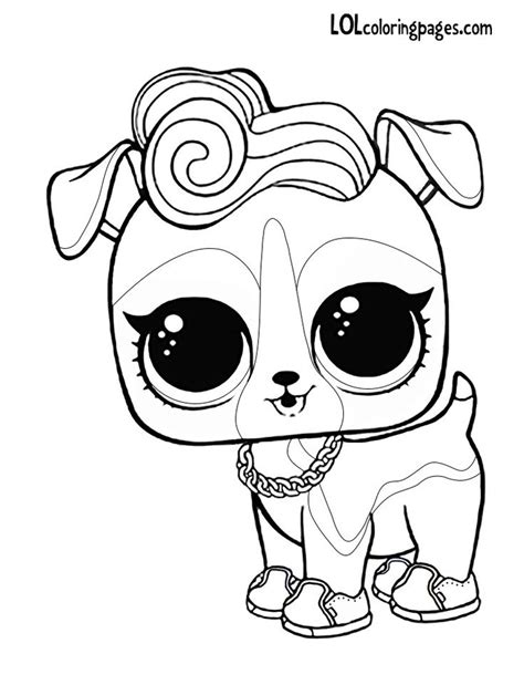 DJ K9 LOL Surprise doll pet coloring page   Horse coloring