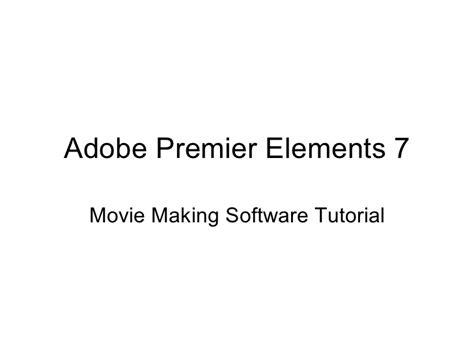 Tutorial Adobe Premiere Elements 7 | adobe premiere elements 7 tutorial