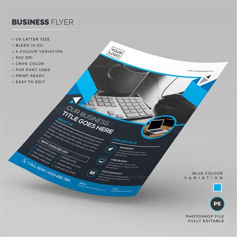 Psd Business Flyer Template 000207 Template Catalog Business Flyer Template