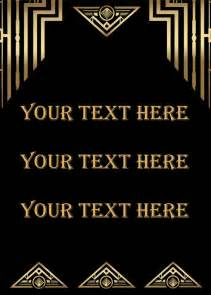 Great Gatsby Template by Great Gatsby Style Deco Template Birthday By