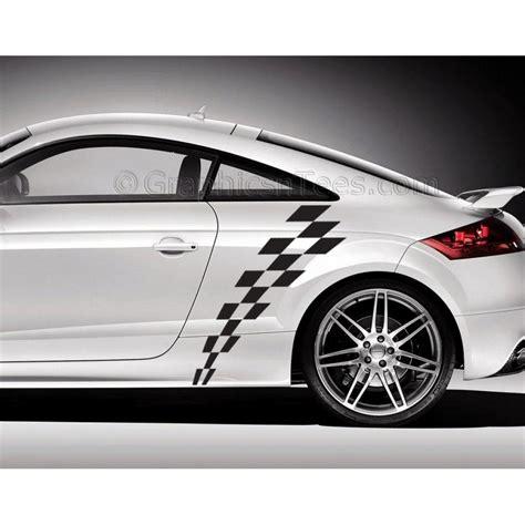 Auto Decals Custom by Audi Tt Car Sticker Check Checker Chequered Flag Custom