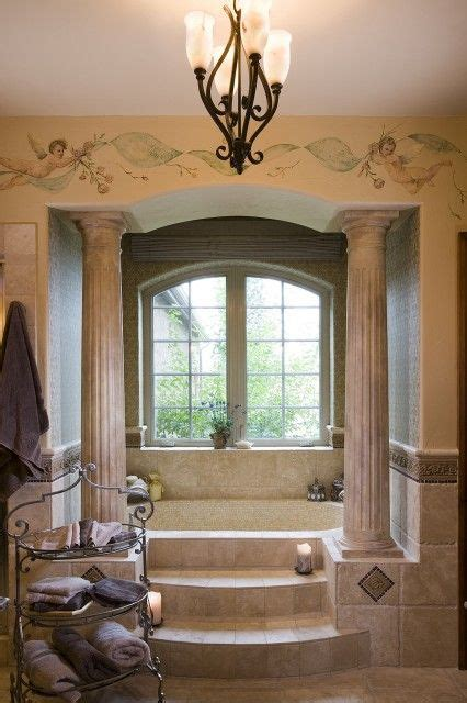 roman style bathroom beautiful roman style bath with an alcove tub framed by