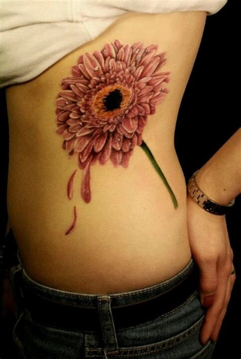 daisy tattoo on ribs daisy tattoos and designs page 3