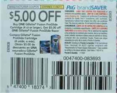 fusion coupon can 5 gillette coupon be use for after