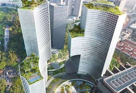 buro ole scheeren singapore buro ole scheeren unveils plans for green roofed duo