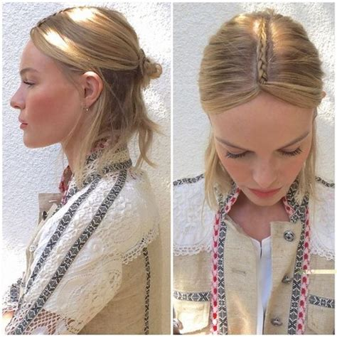 parting hair when braiding a center part braid extremely hot trend for the young