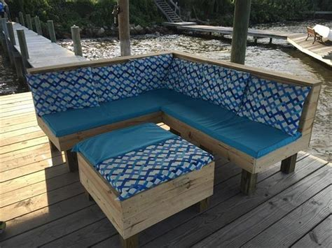 How To Make Pallet Patio Furniture Pallet Corner Couches With Tables Diy Home Decor