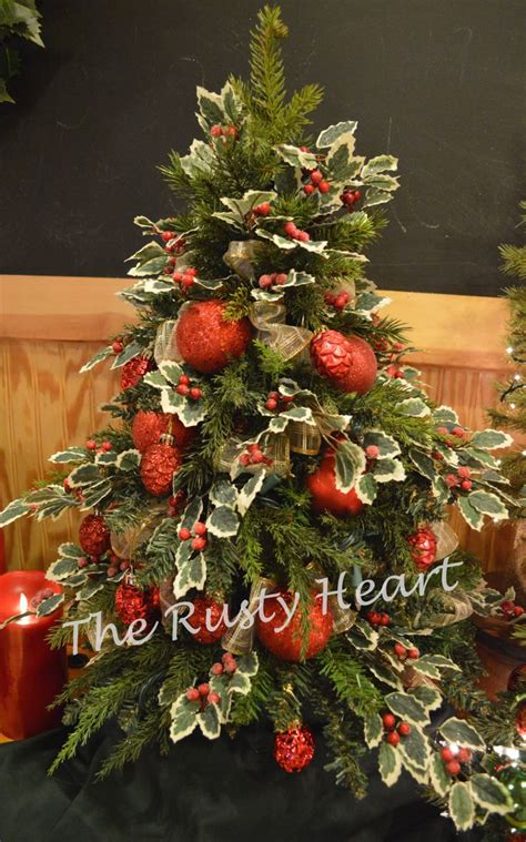 24 quot decorated table top tree decorating for christmas
