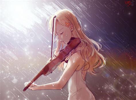 wallpaper anime girl cry anime girl kaori miyazono cry in rain wallpaper