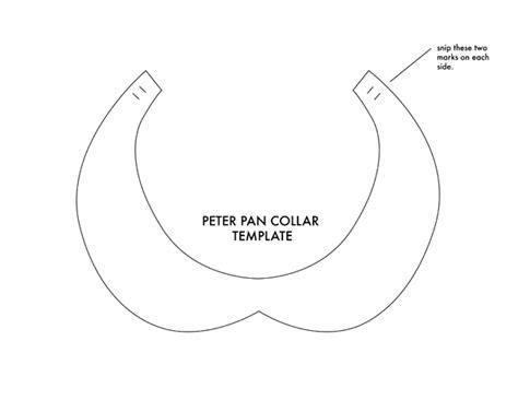 collar template black dress pan collar printable pattern