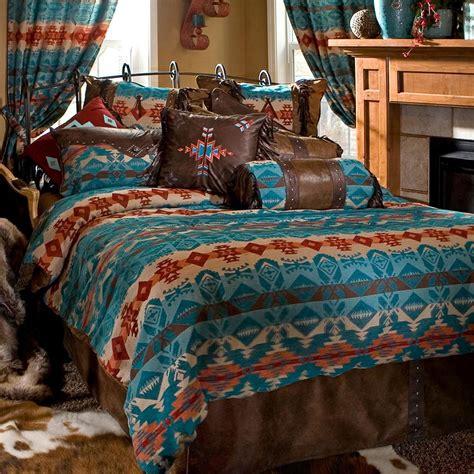 southwestern bedding turquoise chamarro southwestern comforter sets cabin place
