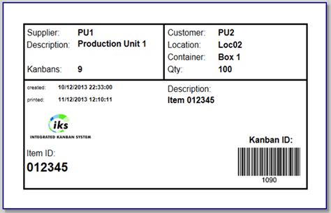 kanban card for inventory template kanban system and pull