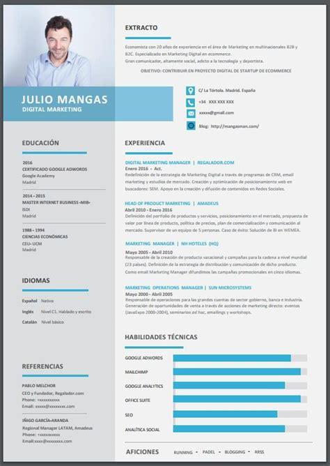 Modelo Curriculum Actual Plantilla De Curriculum Vitae Gratis Para Profesionales 2018