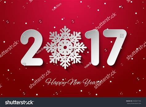 new year background paper vector happy new year 2017 background stock vector
