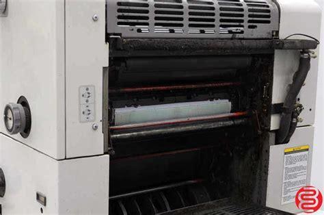 ryobi 924 4 color printing press ryobi 3304h four color offset press boggs equipment