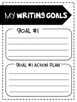 Writing And Reading Goals Template By Learning In Sixth Tpt How To Write Your Goals Template