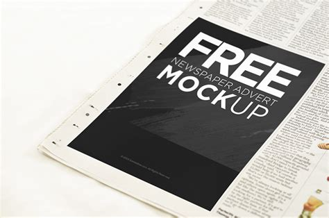 newspaper advertisement mockup psd freebie download
