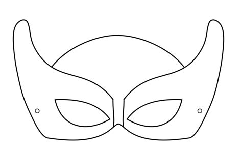 free printable mask templates mask template clipart best