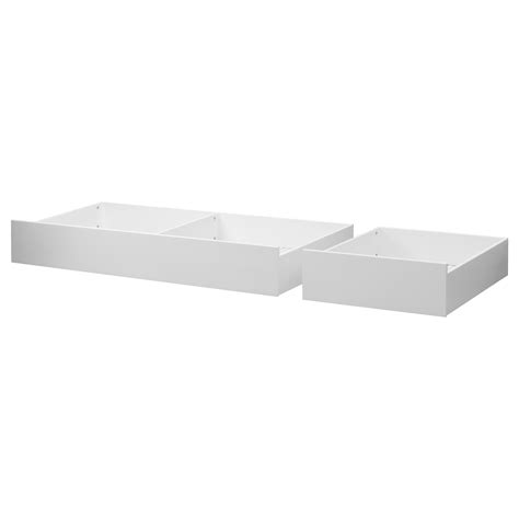 hemnes bed storage box set of 2 white stain double ikea