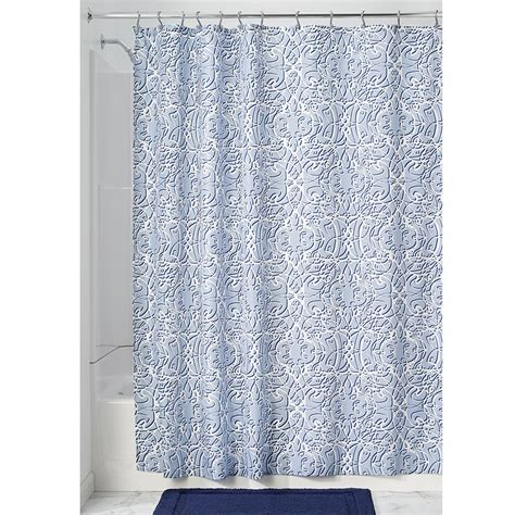 slate blue curtains interdesign filigree soft fabric shower curtain 72 quot x 72